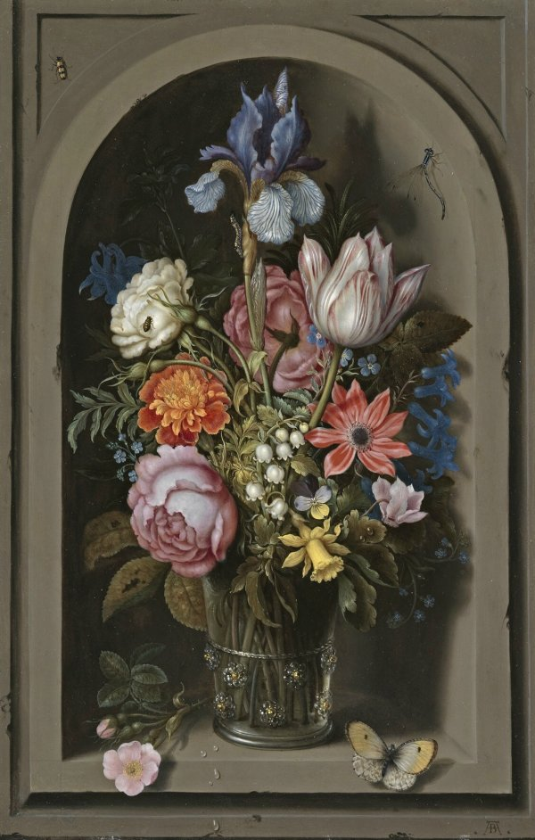 Flower Vase Still Life Dutch Paintings