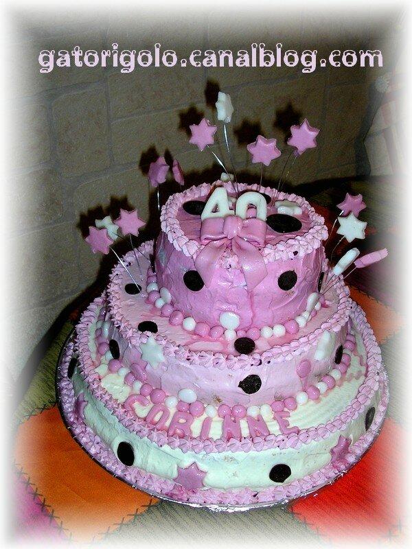 Un feu dartifice pour Corinne   gateaux  thme rigolos  decorating cakes