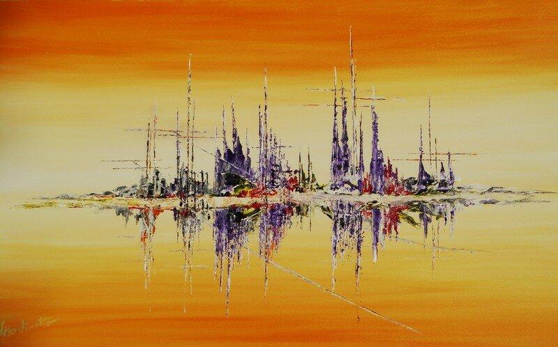Marine Abstraite Peintures De LMartinetto