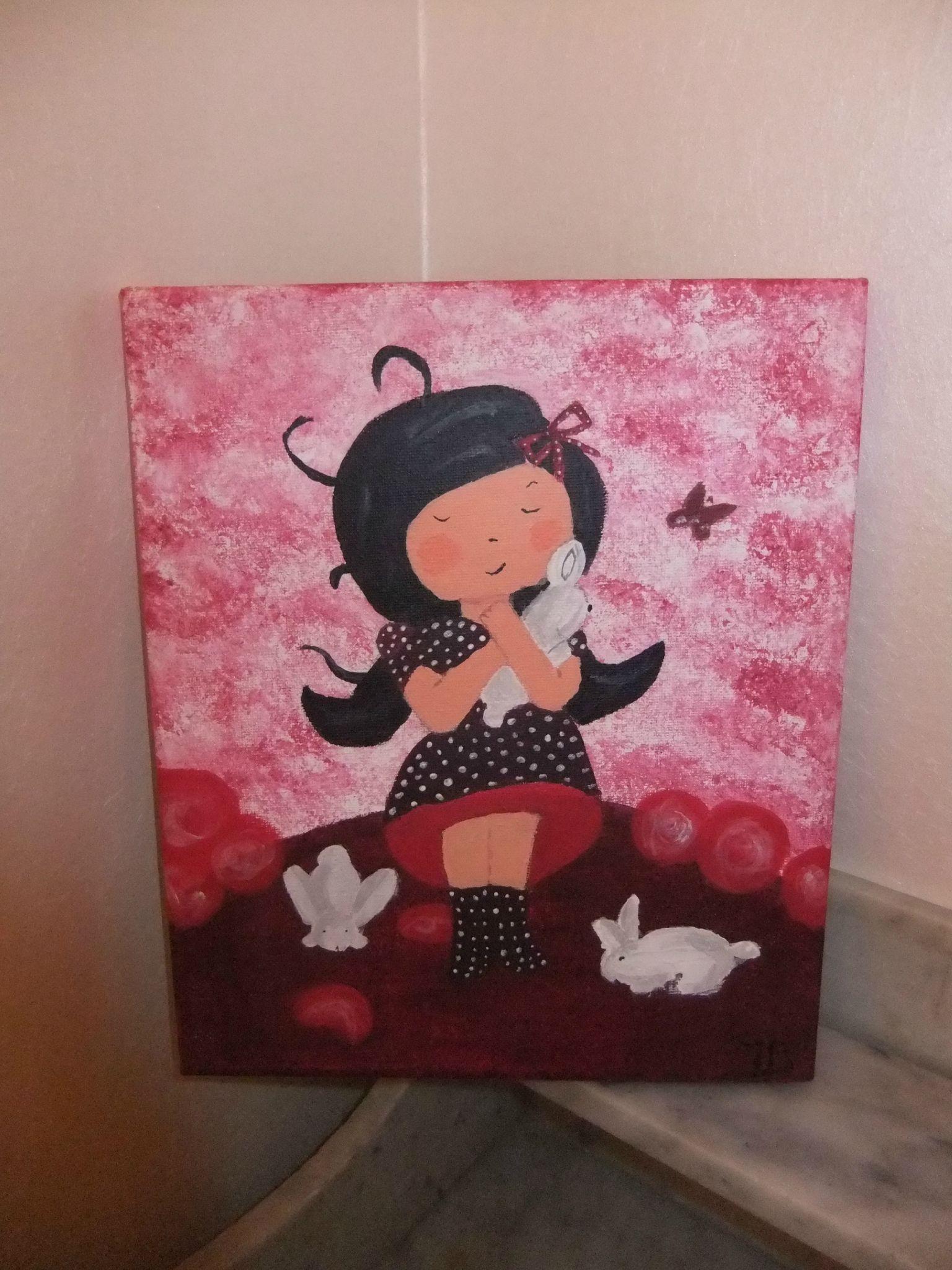 Peinture Pour Rachel With Tableau Pour Fille