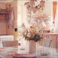 Shabby Chic Kitchen Decor Subway Tile Cuisines - Romantic