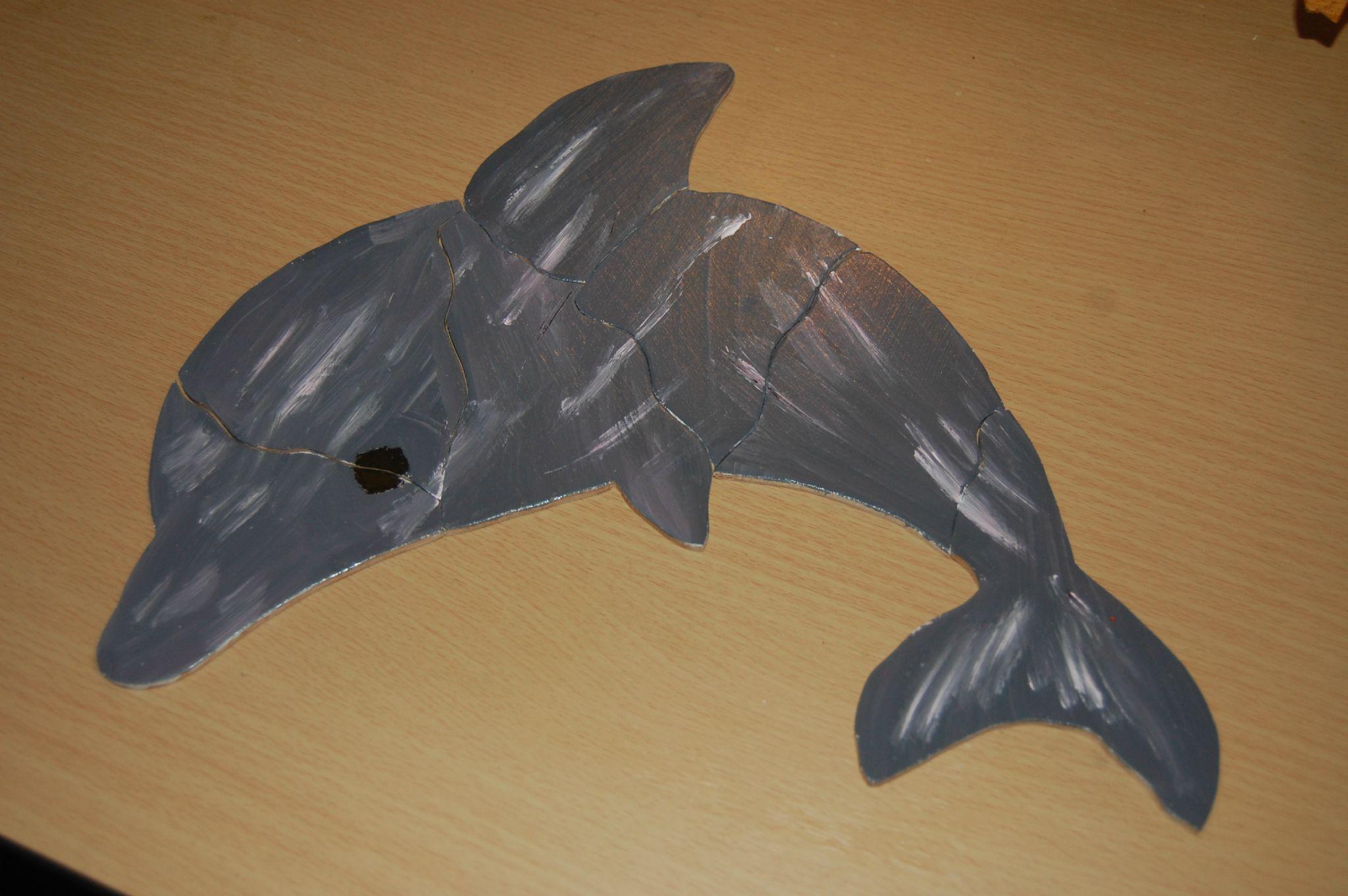 PUZZLE EN BOIS modle dauphin  le monde cratif de nati et pilip
