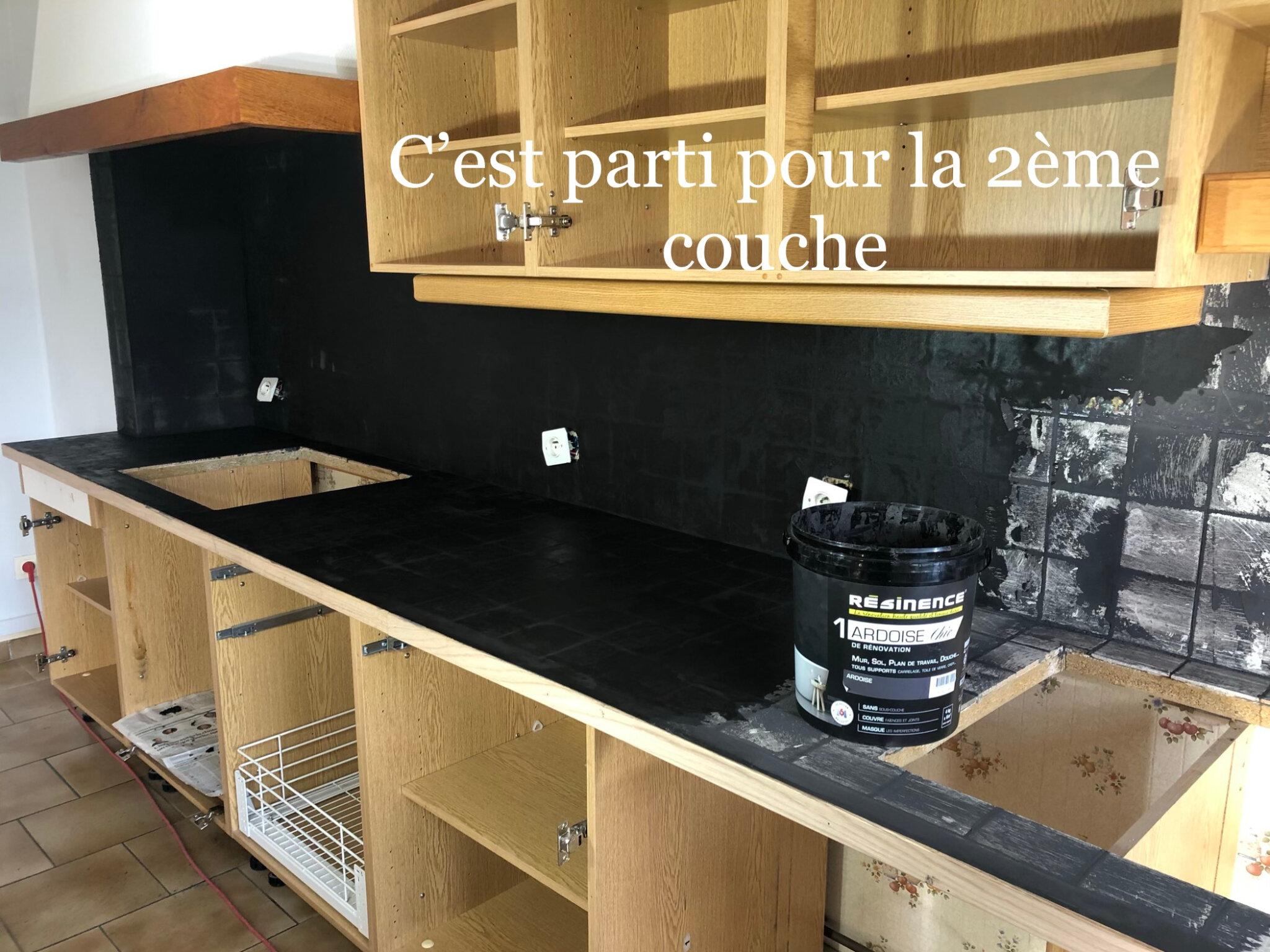 Cuisine Blanc Laquee Et Beton Mineral Grenier Patines 45