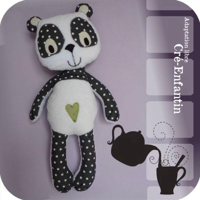 patron couture poupée panda