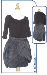 jupe septembre 2010 burda addicts magazine patron couture sewing pattern skirt september