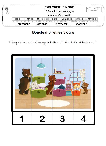 Boucle D'or Et Les Trois Ours Ps : boucle, trois, Boucle, Maternelle