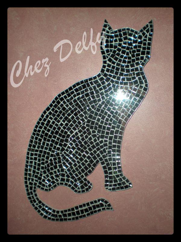 Mosaque chat  Delfy et ses petits doigts