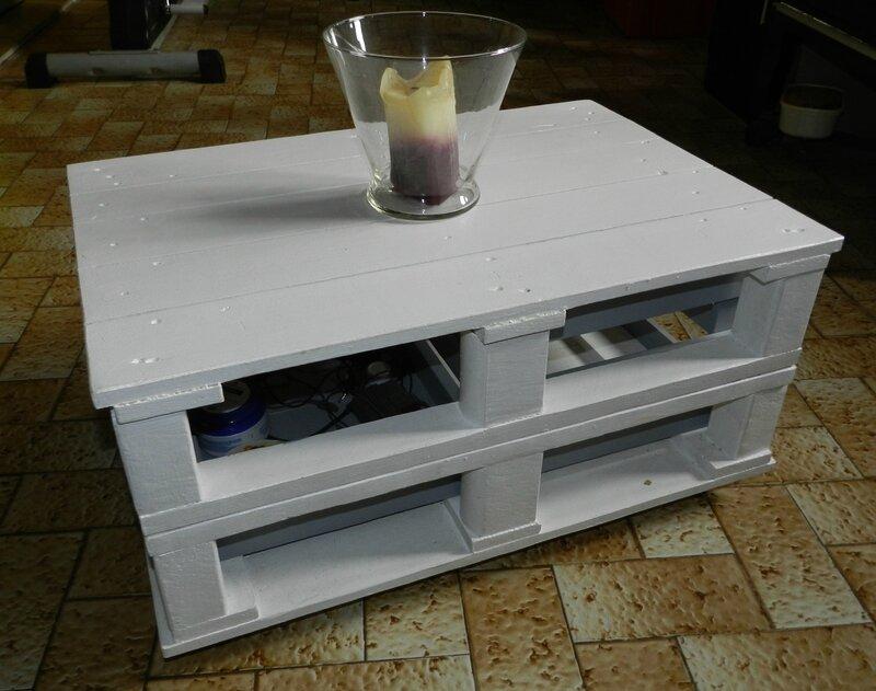 table basse en palette bois le blog