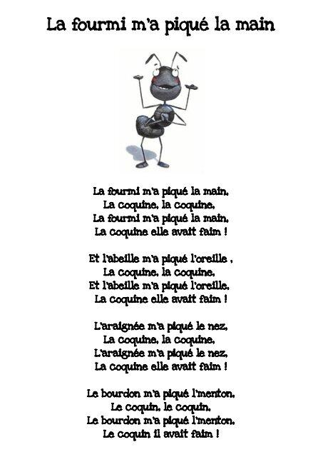 La Fourmie M'a Pique La Main : fourmie, pique, Fourmi, Piqué, Pierre,, Papier,, Ciseau