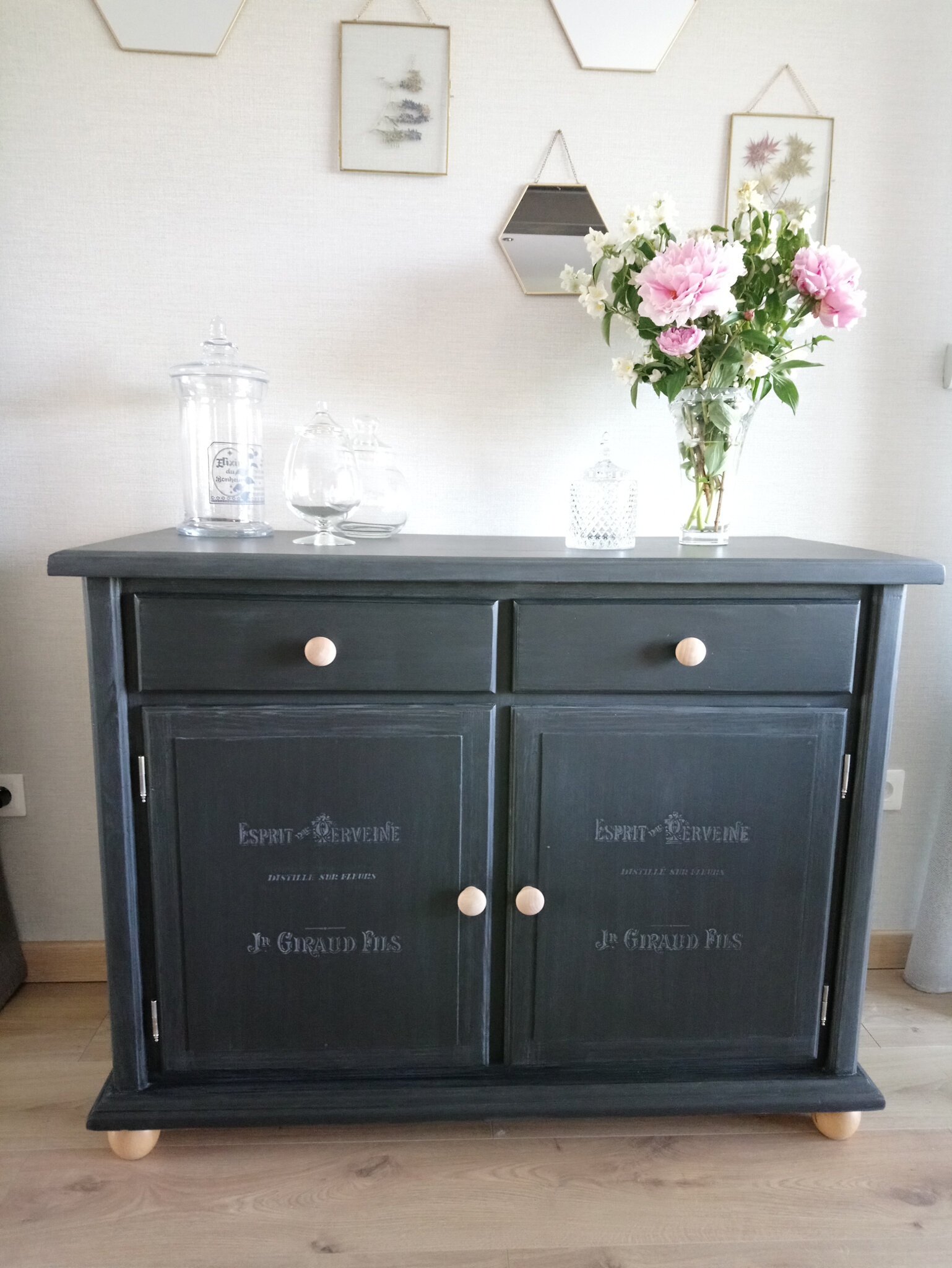 buffet style campagne chic noir