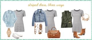 stripeddress 1024x445 - striped dress // three ways