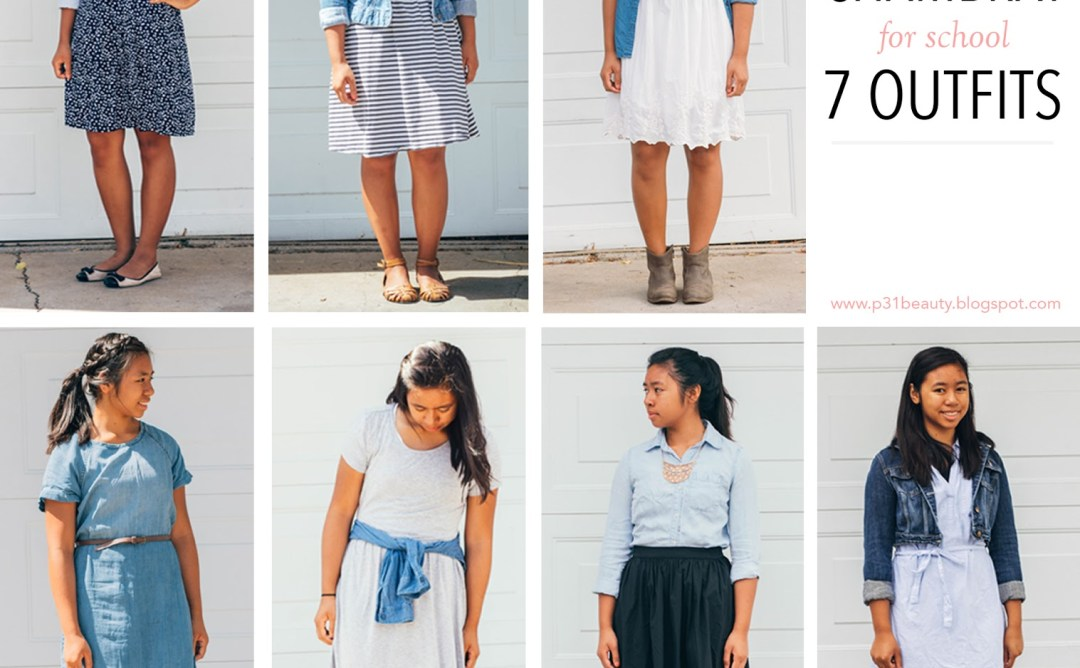 chambray7ways - Chambray for School- 7 Outfits
