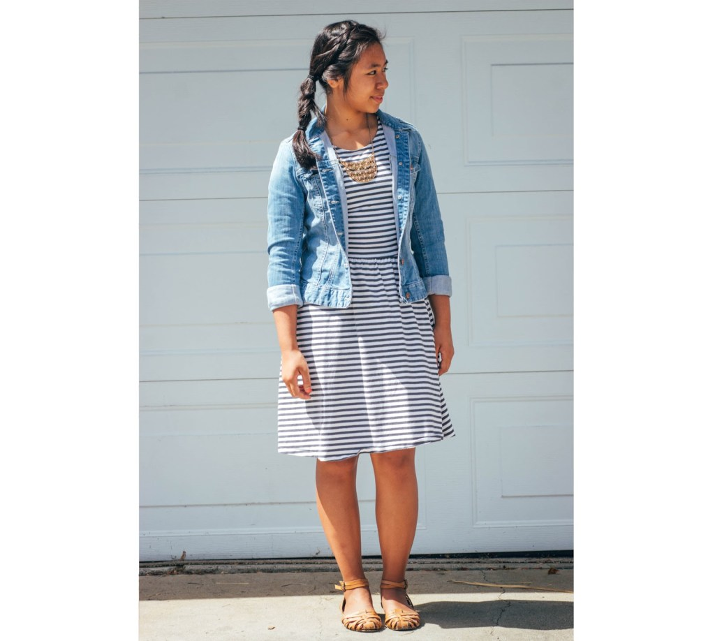 outfit2 1024x918 - Chambray for School- 7 Outfits