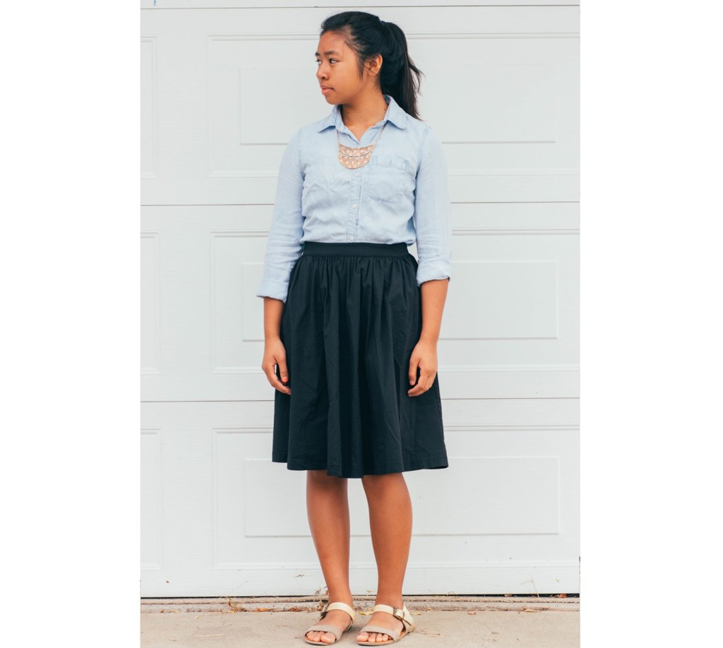 outfit6 1024x918 - Chambray for School- 7 Outfits