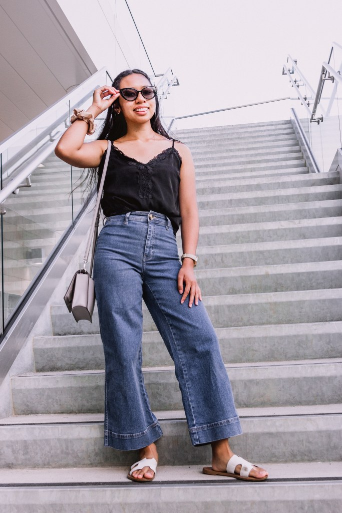 Get some inspiration on how to style your flared pants in the summer. In this post, Blaze Ann also gives a life update on her college journey, graduating, and moving away from home.
