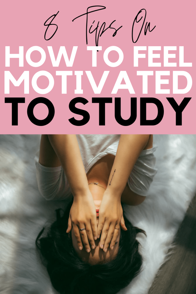 Are you losing motivation to study? Read this post for 8 tips on how to feel motivated to study again so that you can finish this school year strong! If you're losing motivation to study, I promise that this post will help you!