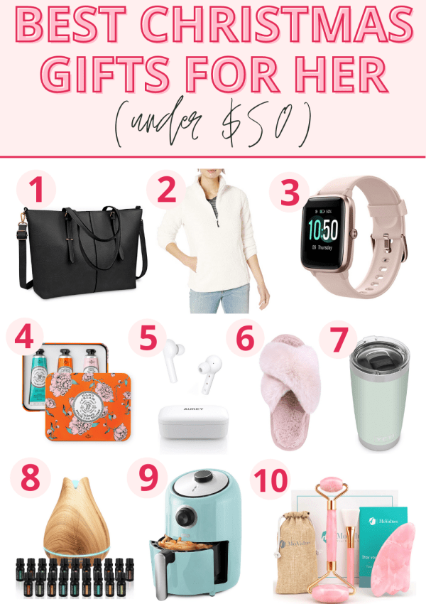 10 Best Christmas Gift Ideas for Her (Under $50!)