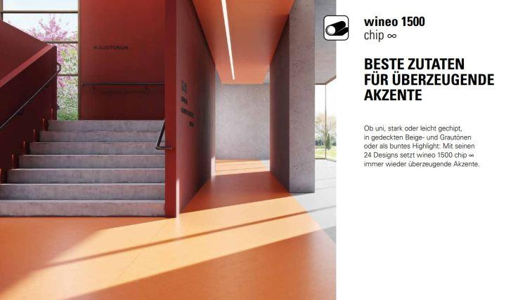 wineo 1500 chip Purline Bioboden öffentlicher Bereich Schulen Gesundheitswesen