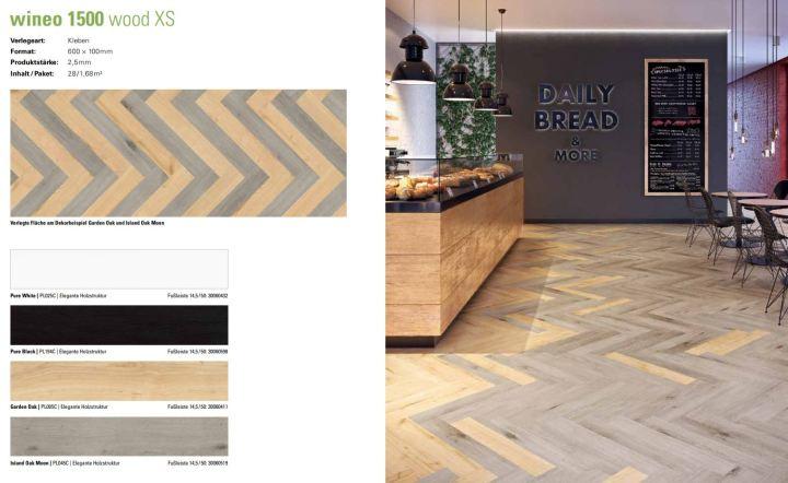 wineo 1500 wood XS Purline Bioboden kreative Kombination der Dekore