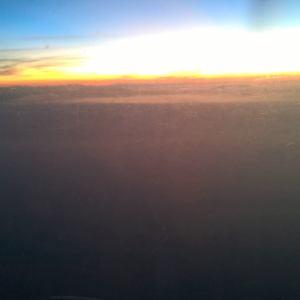 sunrise on a c-130