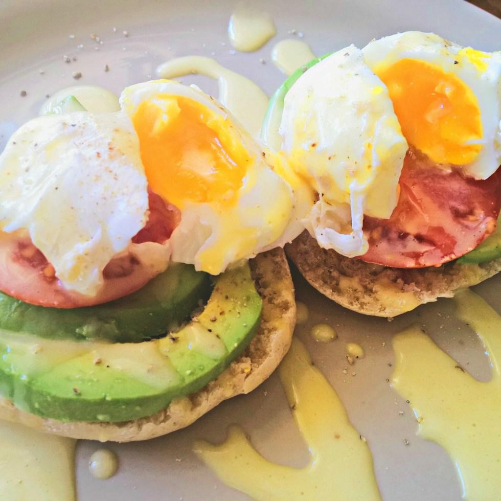vegetarian eggs benidict