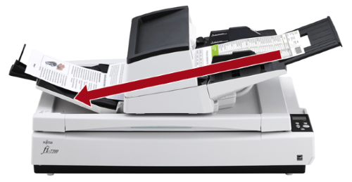 The fi-7700 achieves scanning speeds of 100 ppm/200 ipm (A4 landscape, color, 200/300 dpi), is capable of loading up to 300 sheets at a time and scanning up to as many as 44,000 sheets a day. With its high quality technologies and user-friendly design, the scanner is suitable for continuous high volume scanning. The scanner's ability to scan various documents such as thin paper, plastic cards, books, magazines, envelopes, and long page documents, boosts user productivity.