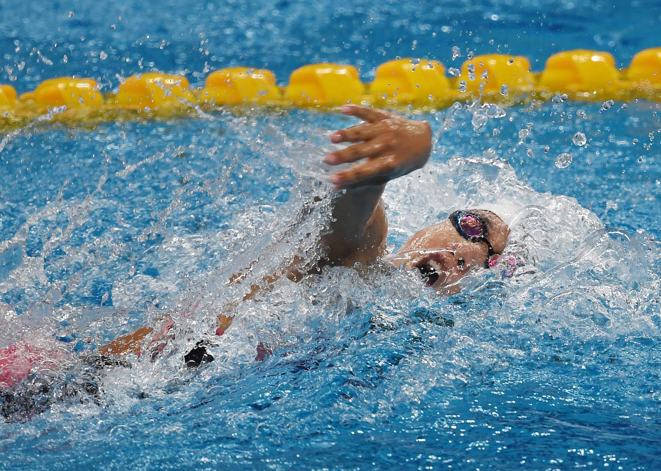 游泳——全國冠軍賽:遼川聯隊獲男女4X100米混合泳接力季軍_金沿