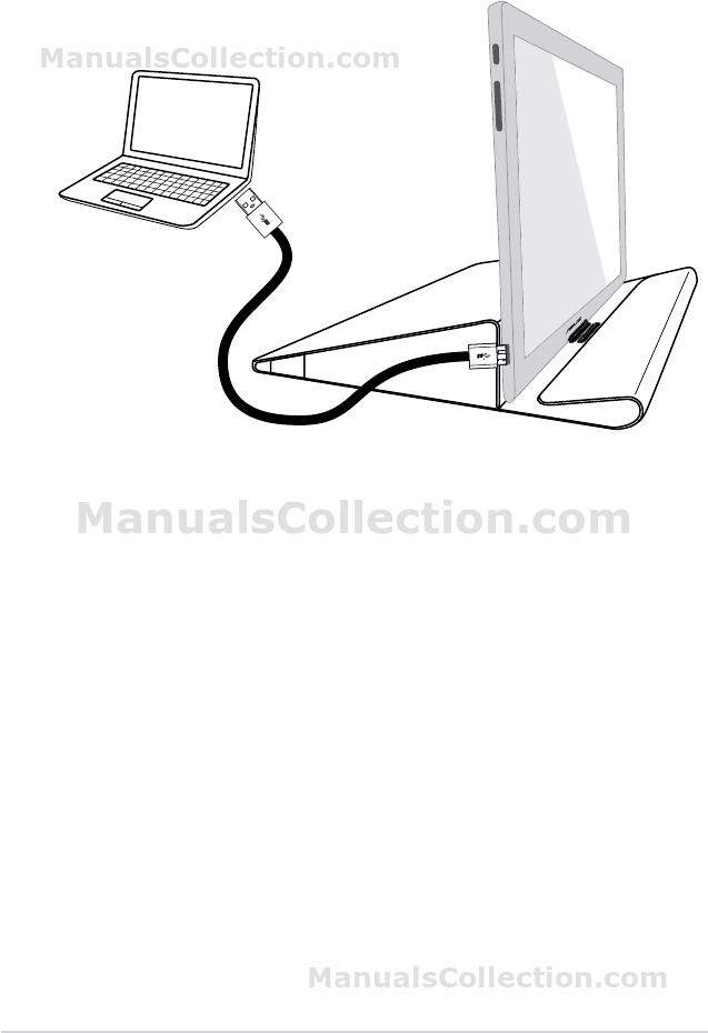 ASUS MB168B 2.2 Connecting the USB cable. MB168 Series