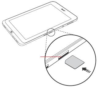 ACER W4-820 micro SIM カードの挿入. ユーザーズ マニュアル (Windows 8.1) (日本語)