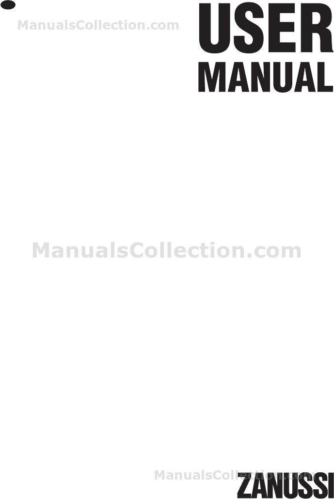 Zanussi ZWG6100K User Manual (English)