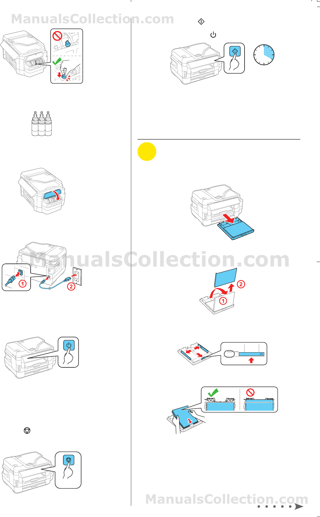 Epson ET-16500 Load paper. Installation Guide