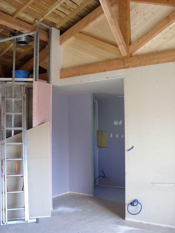 Placo et Plafond rampant  Notre cabane en bois