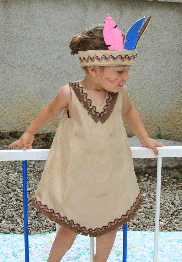 Robe trapze pour jeune squaw  Je couds Citronille