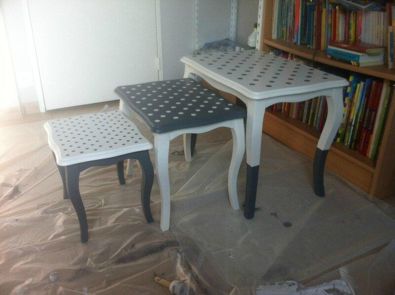 anciennes tables gigognes en chene