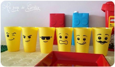 gobelets d'anniversaire lego