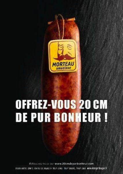 Offrez vous 20 centimtres de pur bonheur   Pub censure de la Saucisse de Morteau  Le