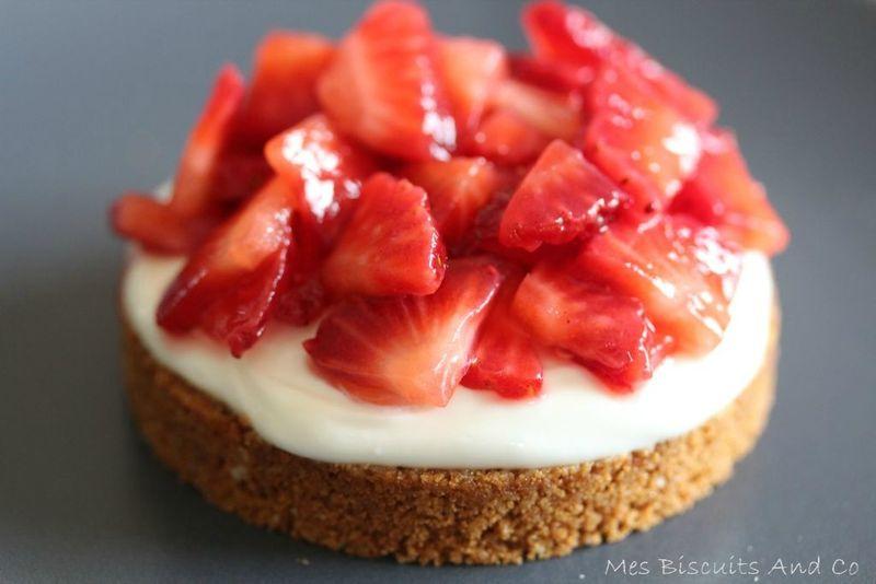 De dlicieuses tartelettes aux fraises et spculoos sans cuisson  Mes Biscuits And Co