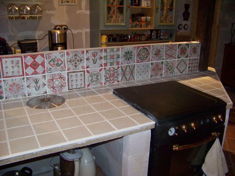 renovation plan de travail cuisine carrelé