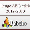 Challenge abc 2012-2013 chez babelio