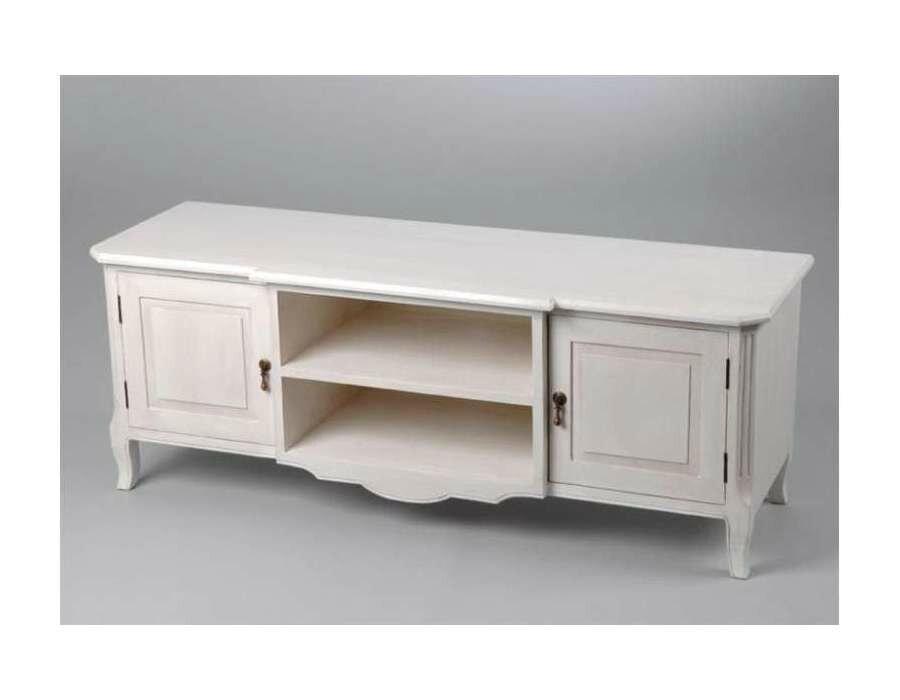 table blanche pour un salon shabby chic