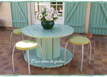 Table De Jardin Avec Un Touret | Recyclage Tous Les Messages Sur ...