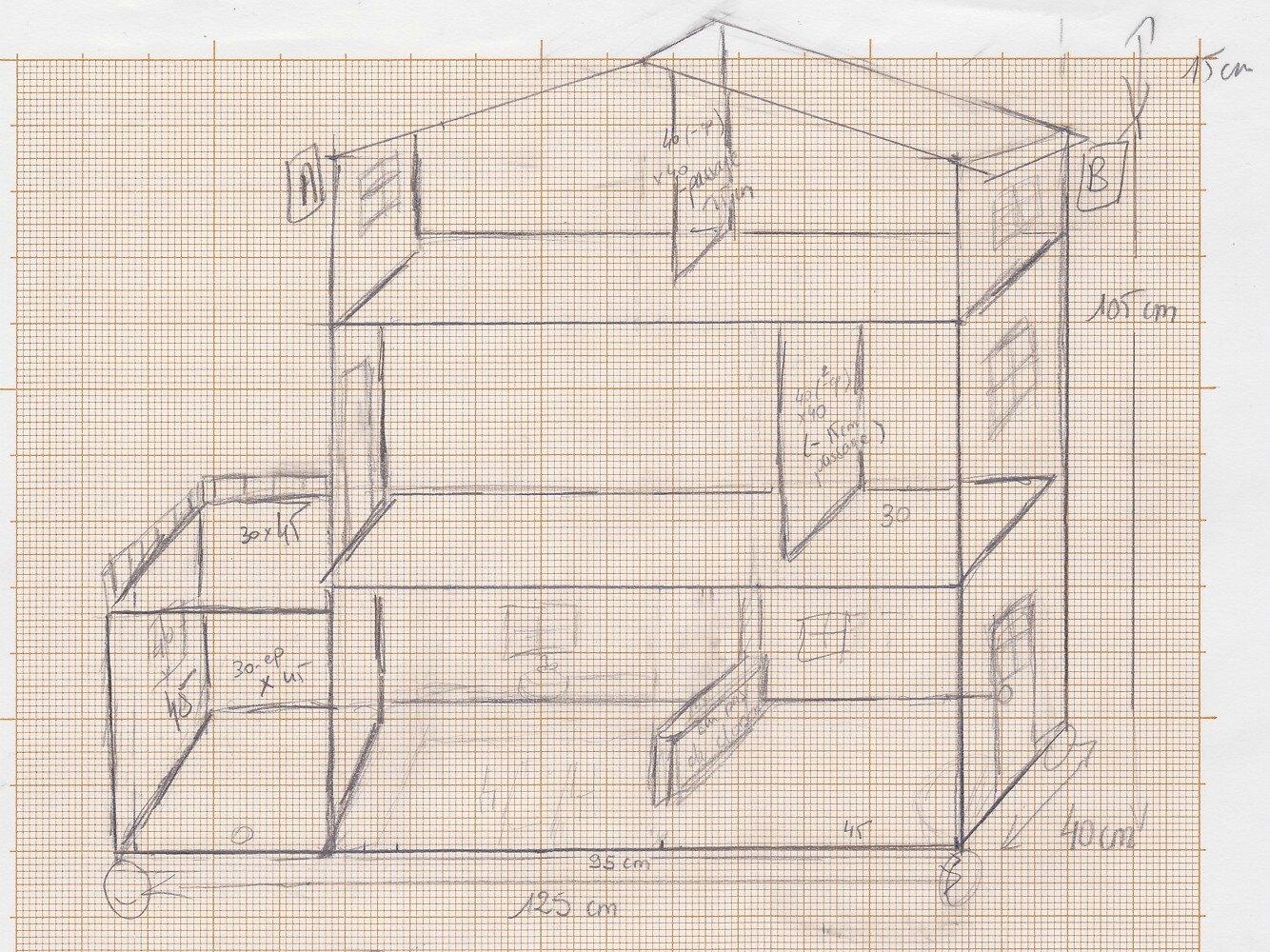 Etape 3  faire les plans de la maison  Maison pour Barbie