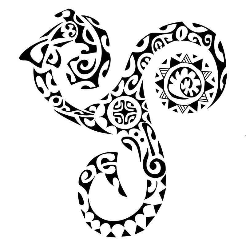 Tortue De Mer Tatouage Maori
