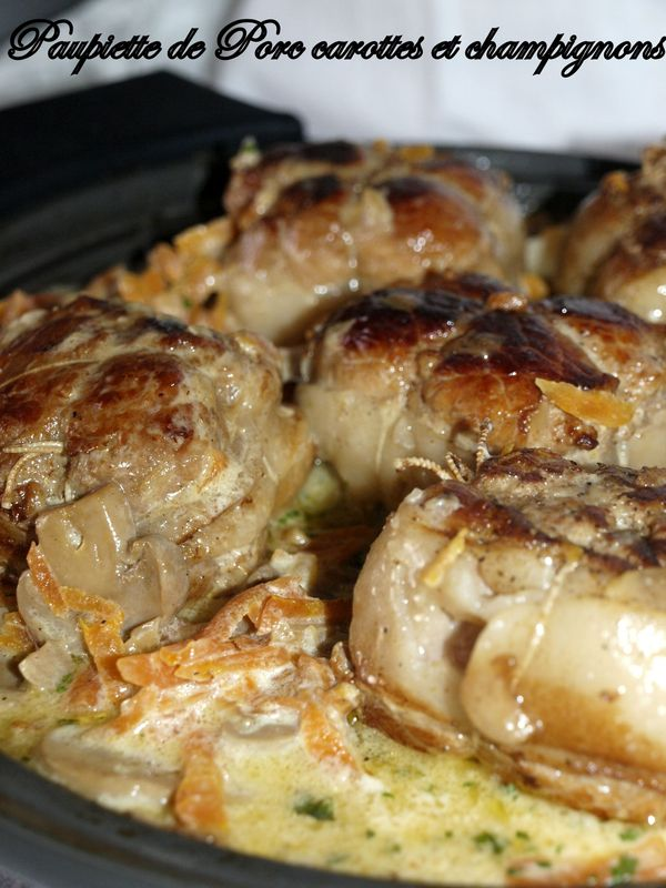 Cuisson Paupiette De Porc Au Four Simple : cuisson, paupiette, simple, Paupiette, Carottes, Champignons, Assiettes