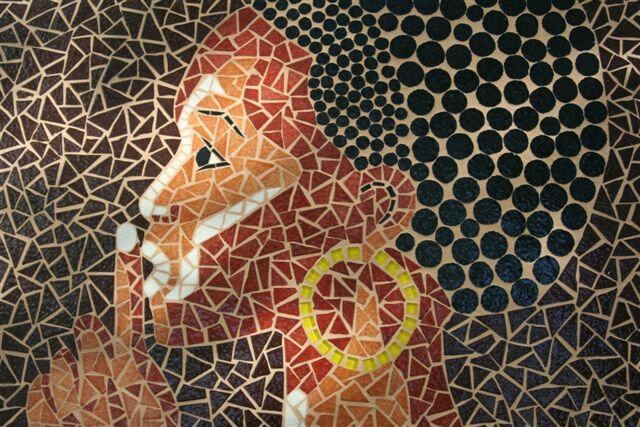 Mosaiques murales  Album photos  Florence OLMI Mosaque dart  Cransac Aveyron Crations