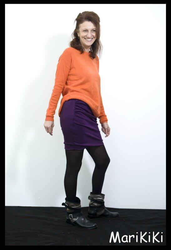 jupe jersey à plis 06