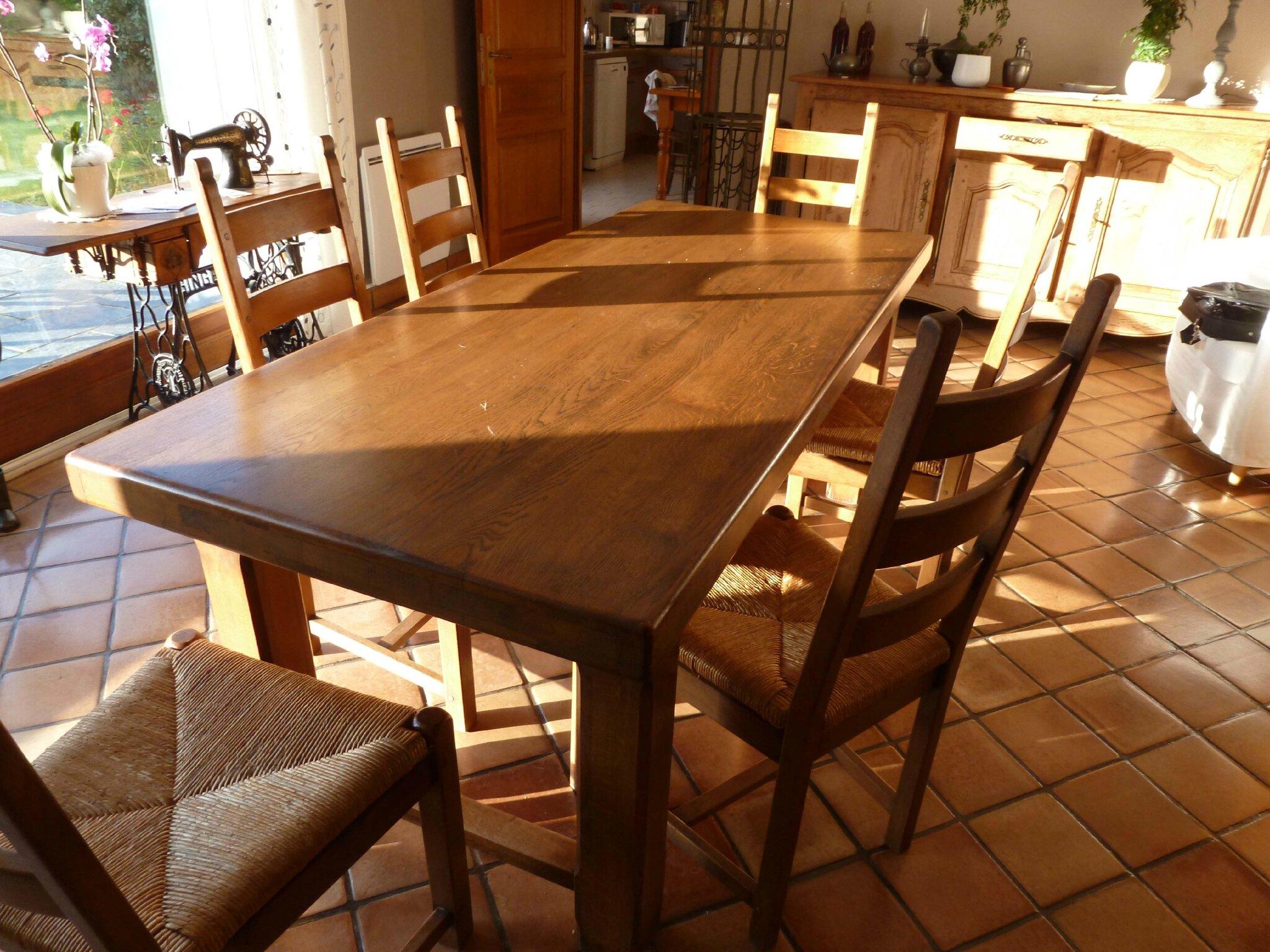 table cuisine avec banc