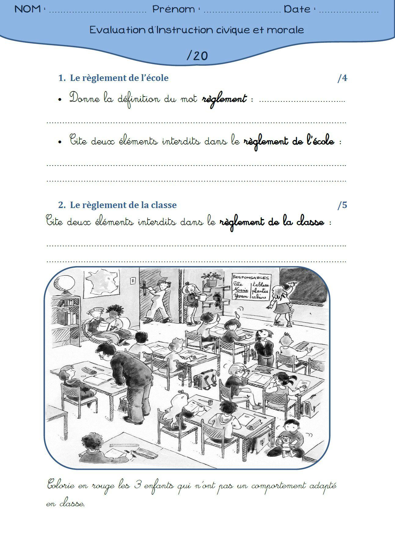 Education Morale Et Civique Cycle 3 : education, morale, civique, cycle, évaluation, Instruction, Civique, Morale, Documents, Pédagogiques, Partager, Cycle