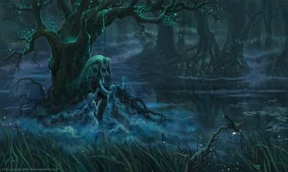 Fantasía Oscuro Malvado Bosque Fantasma Chica Pantano Árbol Fondo de pantalla HD Wallpaperbetter