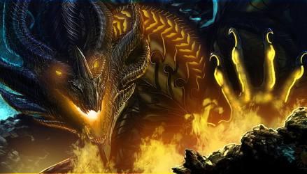 Grey and yellow dragon wallpaper look fiction fire dragon paw art HD wallpaper Wallpaperbetter